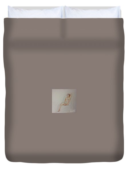 Nude Life Drawing Duvet Cover
