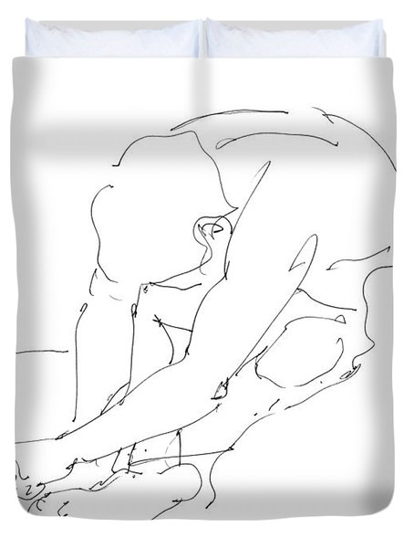 Nude Male Drawings 8 Duvet Cover