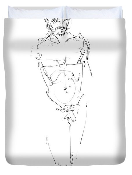Nude Male Drawings 9 Duvet Cover