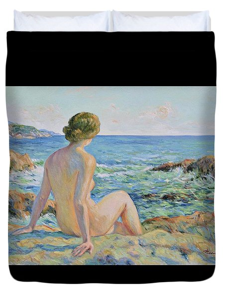 Nude On The Coast Monaco Duvet Cover