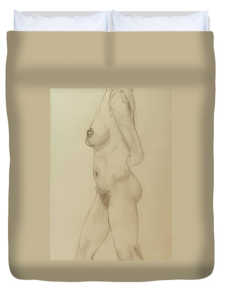 Nude Torso Standing Duvet Cover by Rand Swift