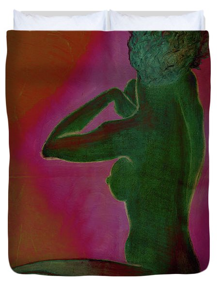 Nude Woman Duvet Cover by Svelby Art