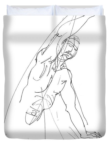 Nude_male_drawing_25 Duvet Cover