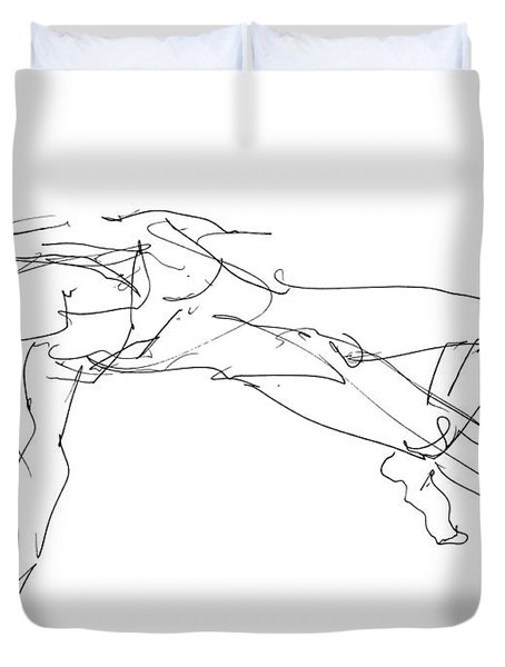 Nude_male_drawings_23 Duvet Cover