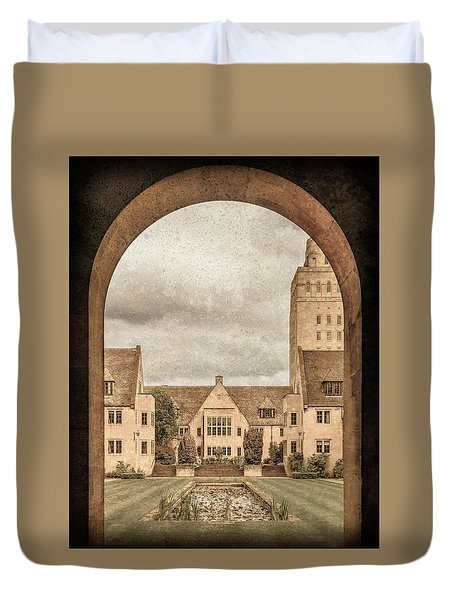 Oxford, England - Nuffield College Duvet Cover