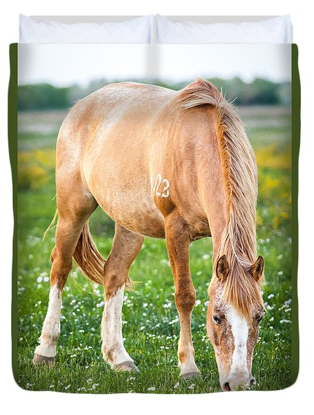 Duvet Cover featuring the photograph Number 403 by Melinda Ledsome