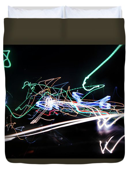 Numbers Gone Awry Duvet Cover
