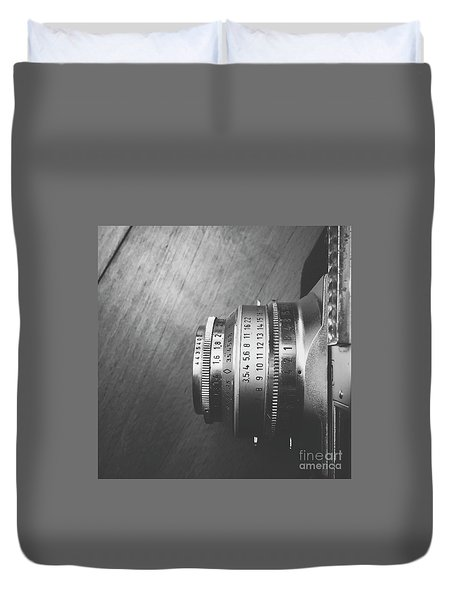 Duvet Cover featuring the photograph Numbers by Ivy Ho