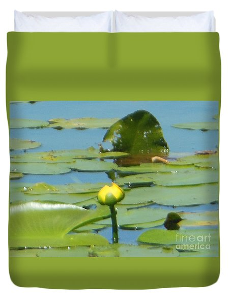 Nuphar Lutea Yellow Pond Duvet Cover