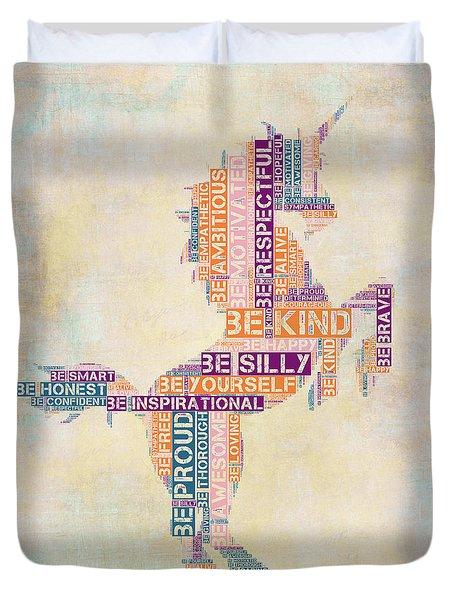 Nursery Rhymes Unicorn Duvet Cover