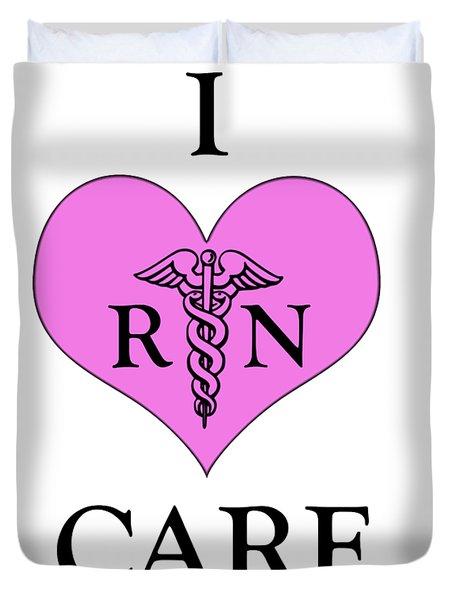 Nursing I Care -  Pink Duvet Cover