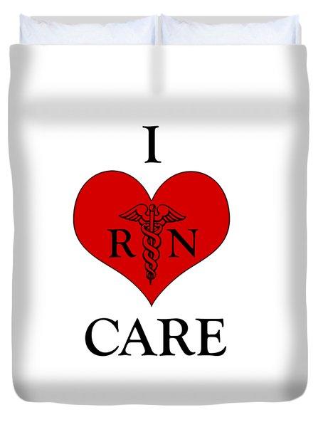 Nursing I Care -  Red Duvet Cover