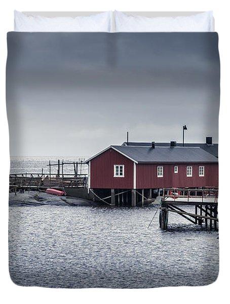 Nusfjord Rorbu Duvet Cover