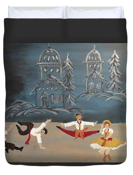 Nutcrackers Dance Of Russian Cossacks Duvet Cover