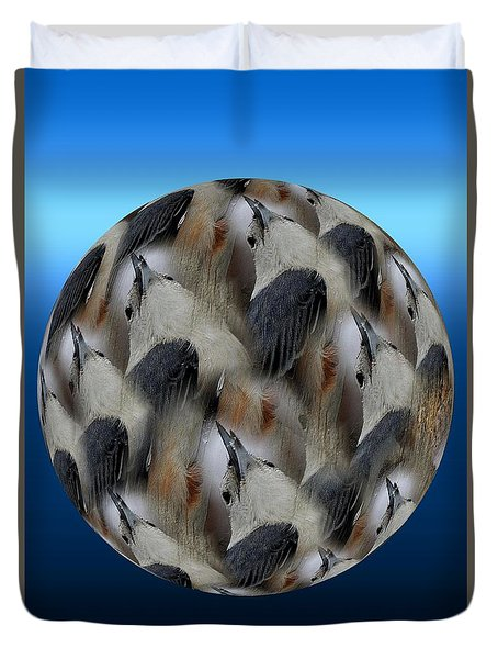 Nuthatch # 3 Duvet Cover