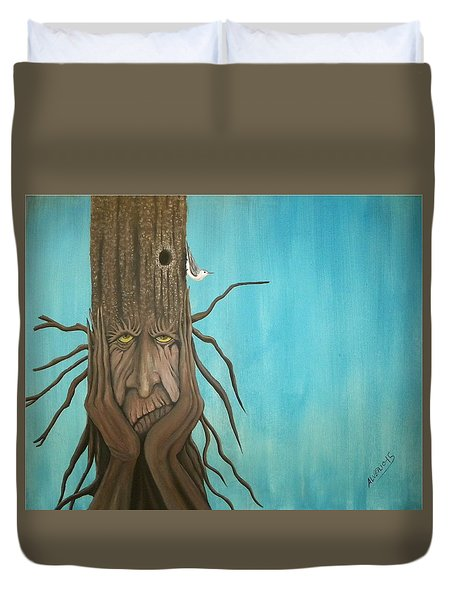 Nuthatch Duvet Cover by Edwin Alverio