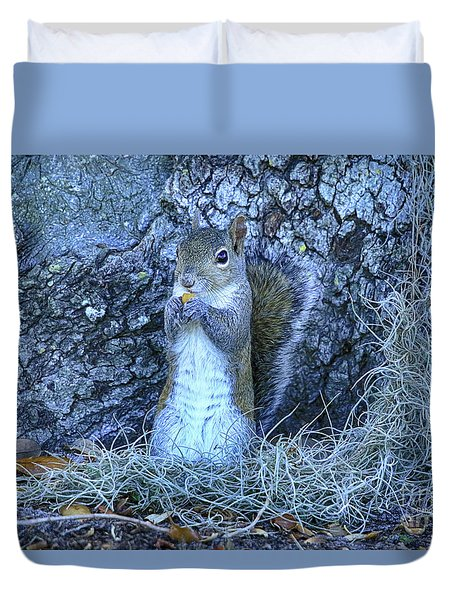 Duvet Cover featuring the photograph Nuts Anyone by Deborah Benoit