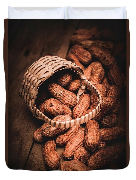 Nuts Still Life Food Photography Duvet Cover