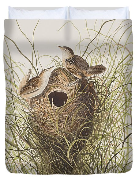 Nuttall's Lesser-marsh Wren  Duvet Cover