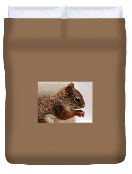 Duvet Cover featuring the photograph Nutty Guy by Martha Ayotte