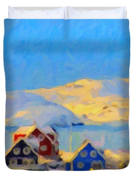 Nuuk, Greenland Duvet Cover