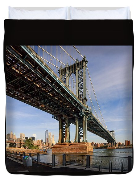 Ny Steel Duvet Cover by Anthony Fields