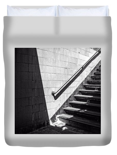 Ny Subway Stairs Duvet Cover