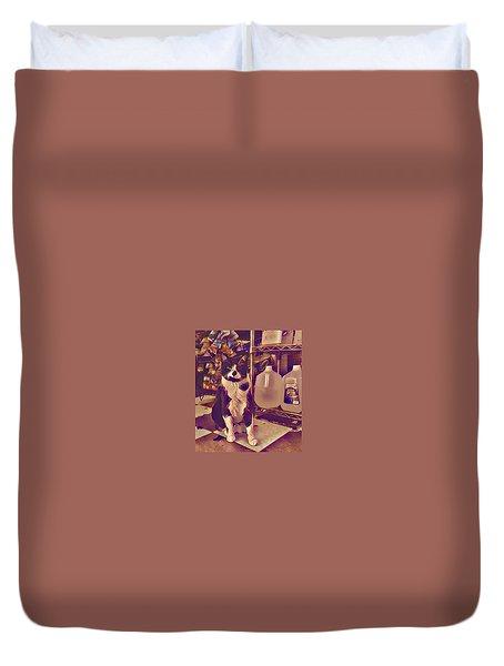 Nyc Bodega Cat Duvet Cover