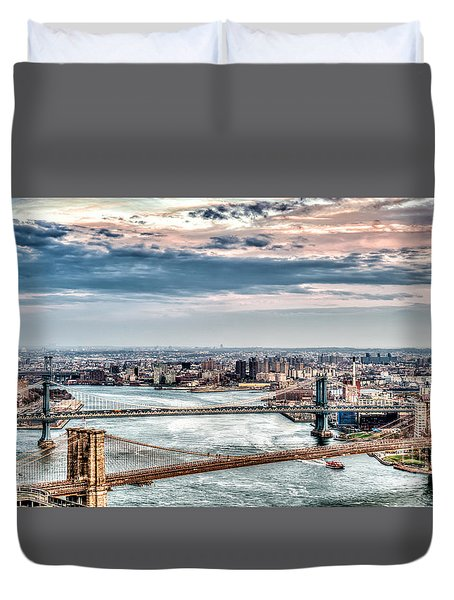 Nyc Bridges Duvet Cover
