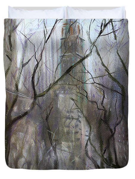 Nyc Central Park 1995 Duvet Cover by Ylli Haruni