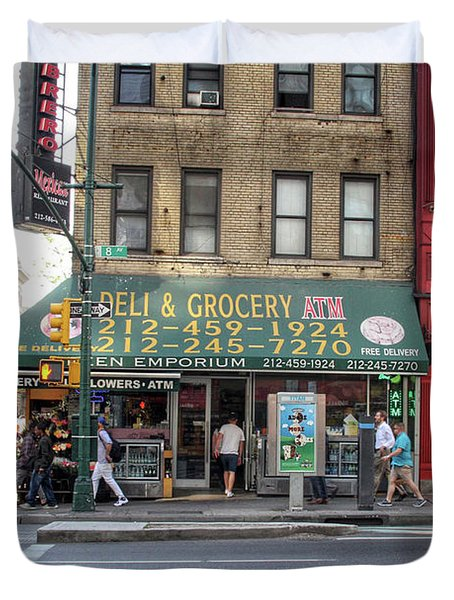 Nyc Deli And Grocery  Duvet Cover
