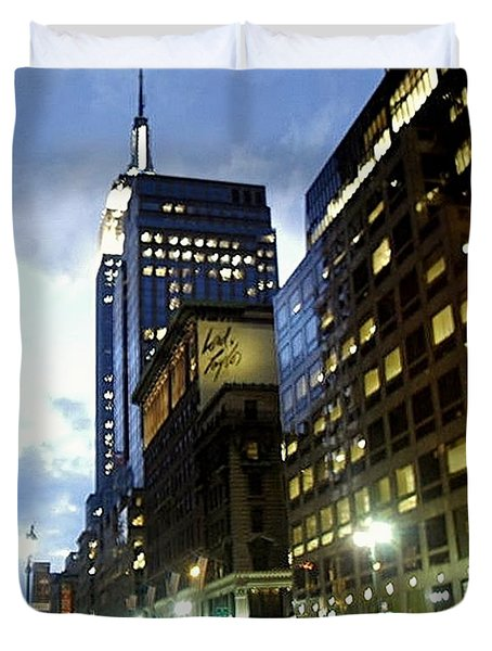 Nyc Fifth Ave Duvet Cover
