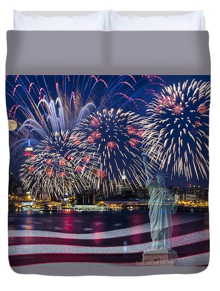 Nyc Fourth Of July Celebration Duvet Cover
