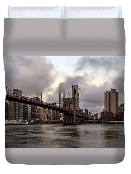 Nyc In The Am Duvet Cover