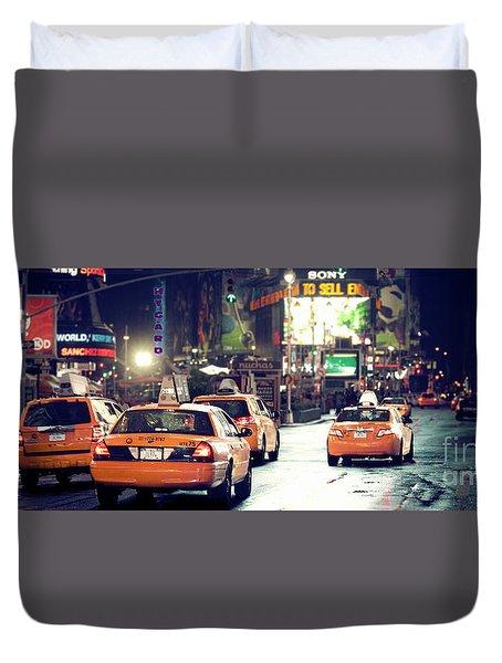 New York City Night Drive Duvet Cover