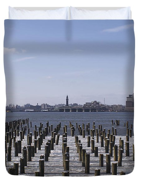 New York City Piers  Duvet Cover