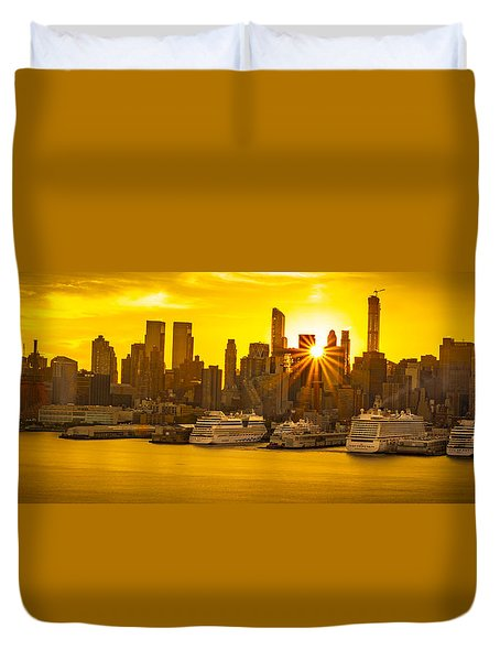 Nyc Ports Duvet Cover
