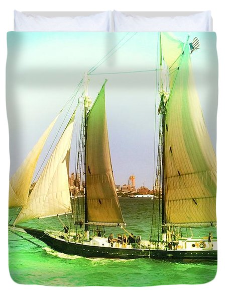 Nyc Sailing Duvet Cover