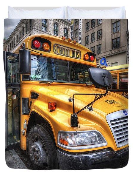 Nyc School Bus Duvet Cover
