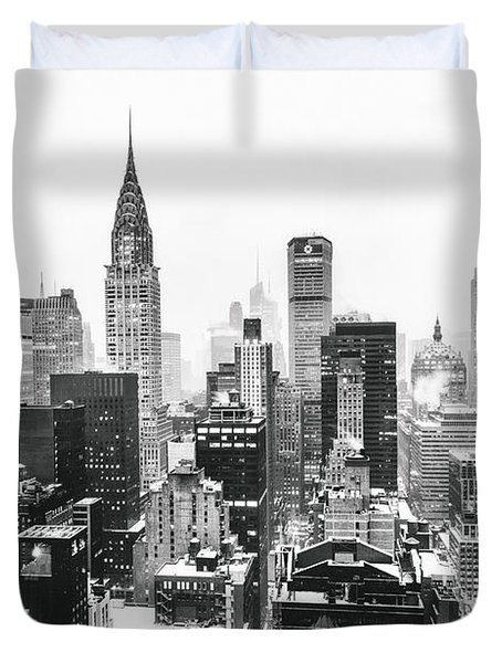 Nyc Snow Duvet Cover