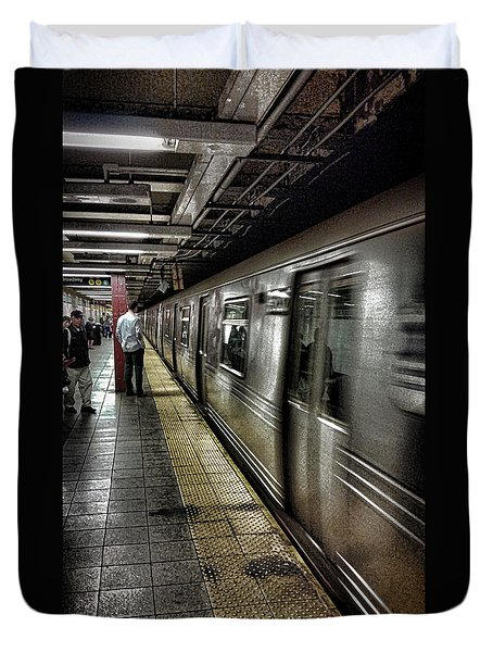 Nyc Subway Duvet Cover by Martin Newman