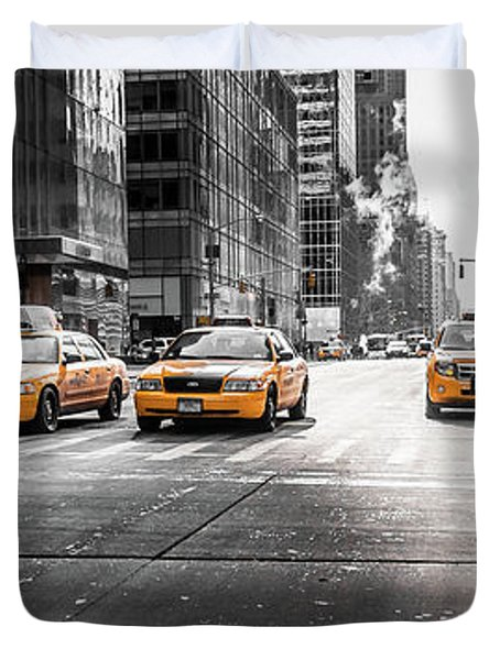 Nyc Taxi Duvet Cover