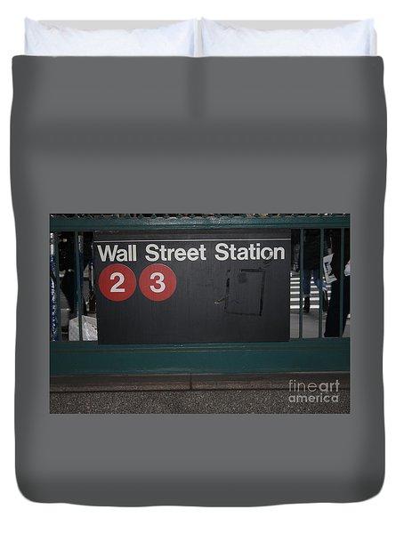 Nyc Wall Street Subway Entrance Duvet Cover