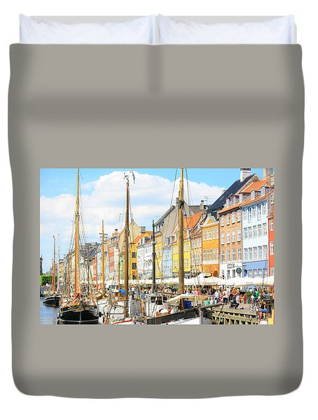 Nyhavn Duvet Cover by Calvin Roberts Photography