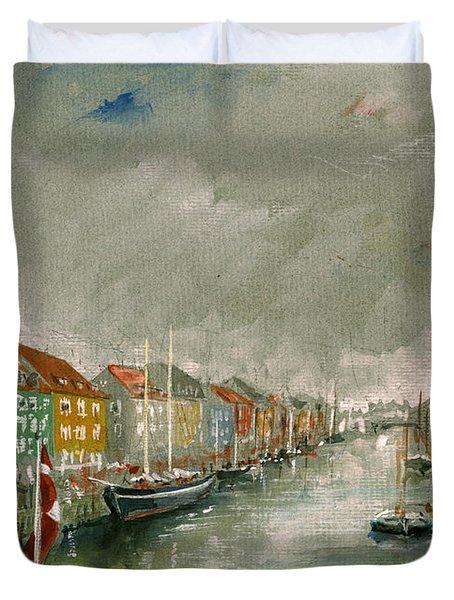Nyhavn Copenhagen Duvet Cover