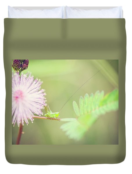 Duvet Cover featuring the photograph Nymph by Heather Applegate