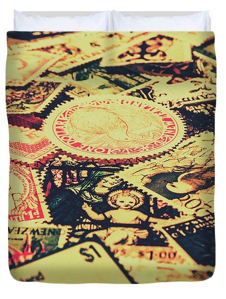 Nz Post Background Duvet Cover