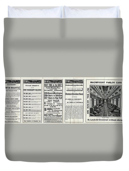 O And M Timetable Duvet Cover