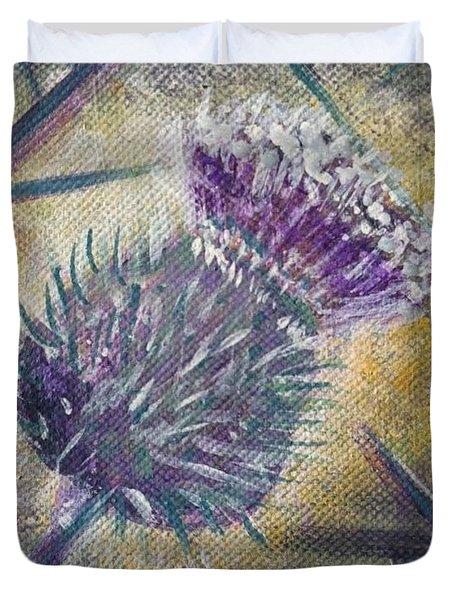 O' Flower Of Scotland Duvet Cover