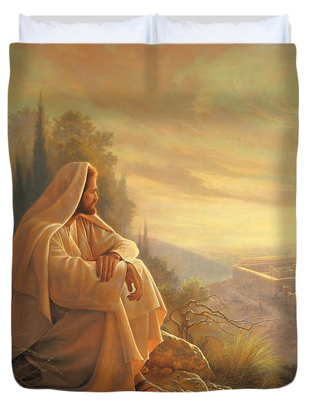 O Jerusalem Duvet Cover by Greg Olsen